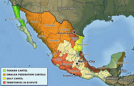 Source Is Landofthefreeish Com Politics Mexico Drug Cartel Map