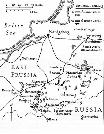 Battle of Tannenberg Map