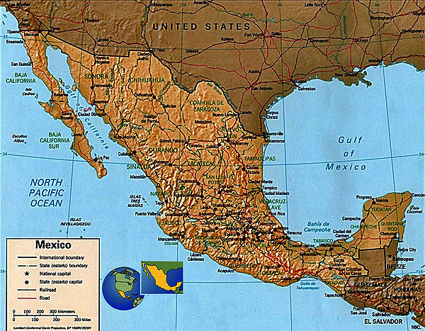 Benito Juarez Mexico Map.Mexico Since 1945